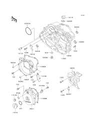 kawasaki klr250 kawasaki klr250 parts diagrams engine covers