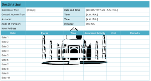 Travel Schedule 9 Useful Travel Itinerary Templates That Are 100 Free