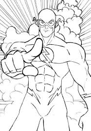 The Flash Coloring Pages Printable Black And White 677 Get