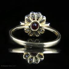 ruby and diamond enement ring 18ct gold antique enement rings