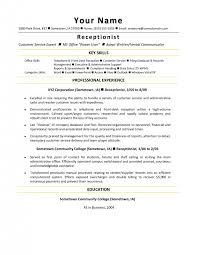Veterinary Receptionist Sample Resume