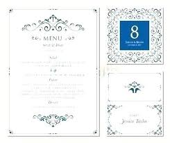 Place Cards Template For Word Menu Place Cards Template Table Number Card Word 9 Name Free