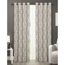 cotton ivory curtains ds window treatments the home depot trellis 2 pack thermal cotton grommet top curtain panels window trellis