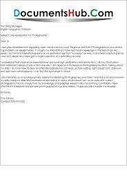 Cover Letter For Photography 11 Photographer Techtrontechnologies Com