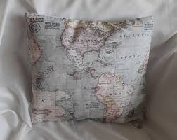 Small Picture Map cushion Etsy