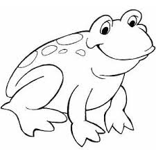 Small Picture Smiling Frog Coloring Page