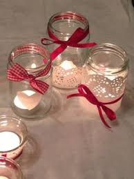 Decorated Jam Jars For Christmas Petals And Ribbon Decorated Jam Jar By Wwwvictoriaroseorguk 2