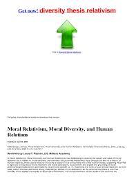 diversity thesis pojman   Documents diversity thesis relativism
