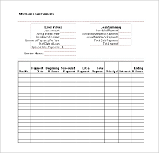 download amortization schedule loan payment schedule templates 9 free word excel pdf format