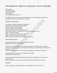 Qa Resume Examples Best of Cover Letter For Qa Tester Best Ideas Of Resume Sample Testing Jobs