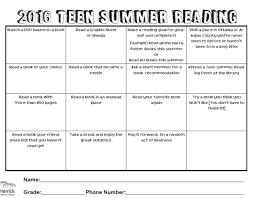 Summer Book Reading Chart Teen Summer Reading Chart Revamp Teen Services Underground