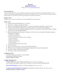 Instructional Designer Resume Berathen Com
