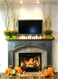 fall fireplace mantel displays fireplace mantel decorating ideas with tv