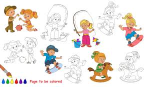 60661210 kid summer games to be colored coloring book to educate kids learn colors visual educational game easy kid gaming and primary education