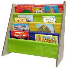 amazoncom sorbus kids bookshelf  bright primary color pockets