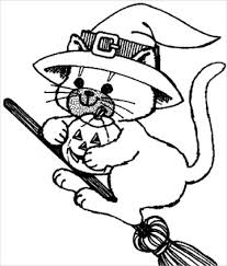 Small Picture Awesome Cute Halloween Cat Coloring Pages Images New Printable
