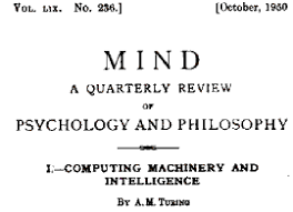 wired says a turing test contender be on the horizon the  an image of the front of turing´s groundbreaking paper