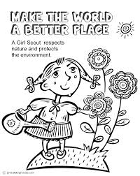 Coloring Pages Girl Scout Coloring Pages For Juniors Free Daisy S