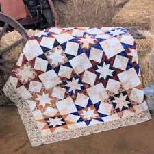 WESTERN STARS QUILT PATTERN, Half-Square Triangles From Cozy Quilt ... & Image is loading WESTERN-STARS-QUILT-PATTERN-Half-Square-Triangles-From- Adamdwight.com