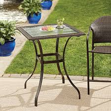 Stratford Wicker and Glass Balcony Table Bed Bath & Beyond