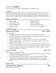 Event Coordinator Resume Example