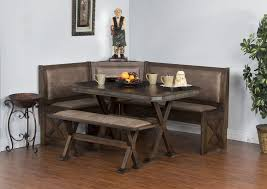 remendations nook dining table set elegant sd 0222ro sedona rustic oak breakfast nook with