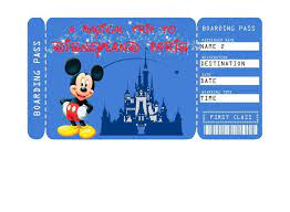 Printable Ticket to Disneyland Paris ...