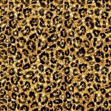 Leopard Pattern Impressive Seamless Gold Leopard Pattern Vector Illustration Shining Fashion