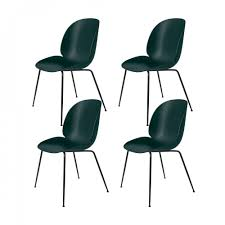 dining chairs set of 4. Gubi - Beetle Dining Chair Set Of 4 Green/seat Chairs