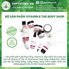 Bộ Vitamin E Lúa Mạch The Body Shop rửa mặt, toner, xịt khoáng, kem dưỡng,  mask siêu cấp ẩm và làm sáng da tại Hà Nội
