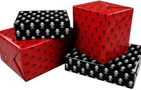gothic and horror inspired wrapping paper for ghoulish gifts
