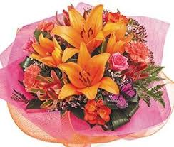 mother s dayflowers bright and bold hand tied bouquet in vibrant colours incorporating same day flower deliveryhand