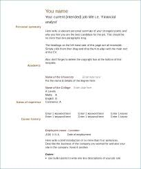 Cv Template For Over 40 Free Printable Resume Templates