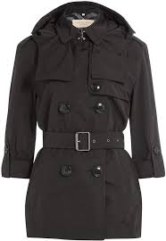 burberry brit knightsdale short hooded trench coat