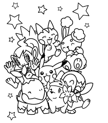 Small Picture electric pokemon coloring pages pikachu and friends Coolagenet