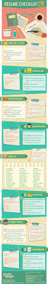 Infographic Resume Examples Resume Writing Checklist INFOGRAPHIC GalleyCat 100