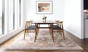 how big area rug under dining room table kitchen rugs round indoor best to put