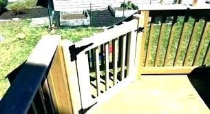 outdoor deck gate outdoor wooden deck gates gate build safety sliding porch simple retractable baby for