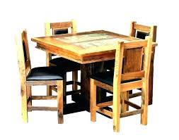 small rustic wood dining table round reclaimed kitchen outstanding tchen set sets furniture