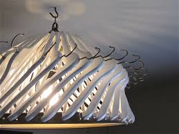 make your own chandelier out of clothes hangers