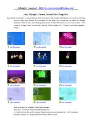 Top 12 Olympics Powerpoint Templates Free Download By Niam
