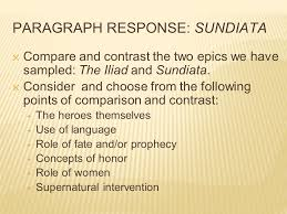 sundiata an epic of old ppt video online  paragraph response sundiata