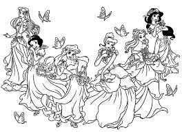 Galerie De Coloriages Gratuits Coloriage Toutes Les Princesses