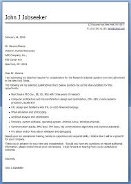 Sample Research Cover Letter Cover Letter Research Scientist Sample Creative Resume Design