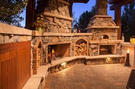great outdoor fireplace pizza oven combo self with babytimeexpo furniture amazing kit combination insert how to