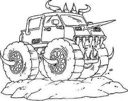Small Picture monster truck coloring page free coloring sheet Gianfredanet