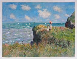 the cliff walk pourville claude monet oil painting replica