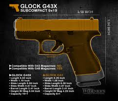 Glock Size Chart Glocks New G43x And G48 Pistols Vs The Glock 43 And Glock 19