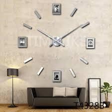 whole 2016 new living room photo frame clock diy home decor 3d wall sticker clock large quartz clock watch horloge unusual clocks unusual kitchen wall