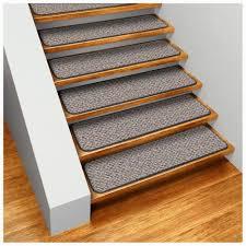 Beige Color Set of <b>15</b> Dean Skid Resistant <b>Carpet Stair Treads</b> ...